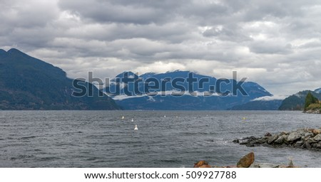 Natural Sea Mountain during autumn in Vancouver Canada