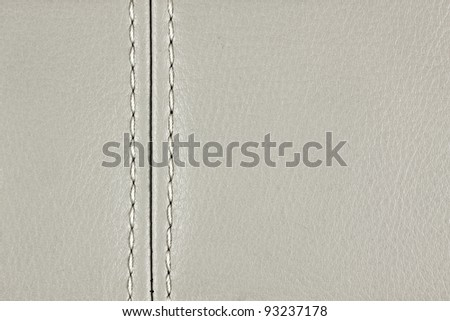 natural sewing leather, See my portfolio for more - stock photo