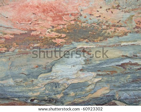 Natural slate in closeup - stock photo