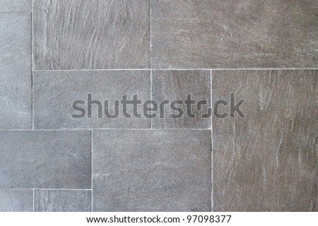 Natural slate tile paving