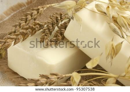 Natural soaps - stock photo