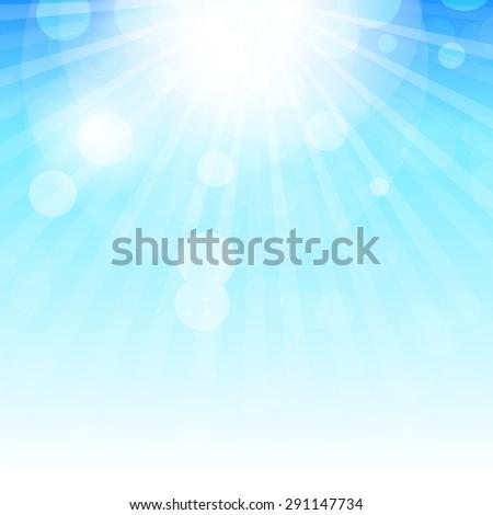 Natural Spring Background  Illustration  - stock photo
