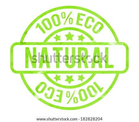 Natural Stamp - stock photo