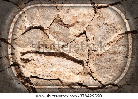 Natural stone background. Abstract texture with vignette