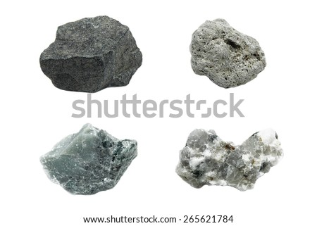 Natural stone isolated on gray background - stock photo