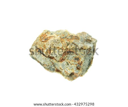 Natural stone on white background