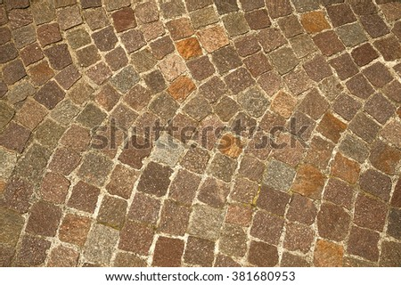 natural stone tile road curve background