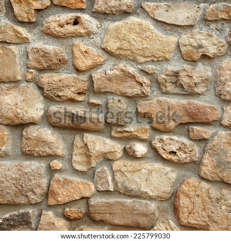 Natural Stone Wall Textured Background - stock photo
