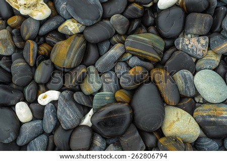Natural Stones shore at Li-pe island, Thailand - stock photo