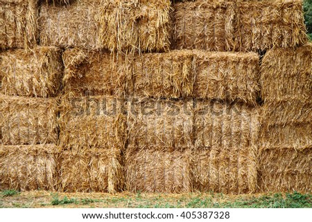 natural straw texture from the big farm - stock photo