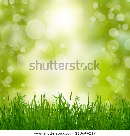 Natural summer green background