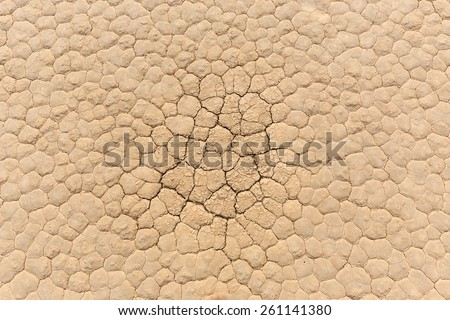 Natural texture of dry cracked clay lake bed from above. Racetrack Playa floor. Death Valley - stock photo