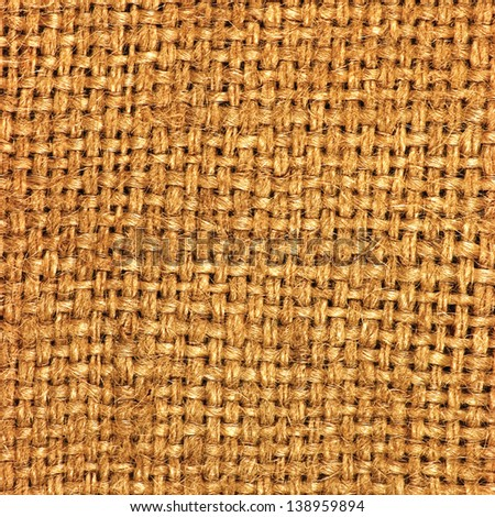 Natural textured burlap sackcloth hessian texture coffee sack, dark country sacking canvas, macro background - stock photo