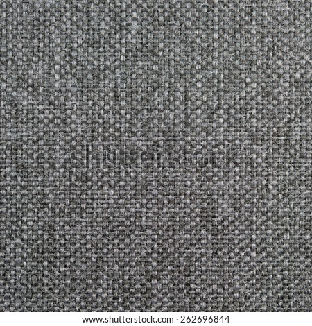 Natural textured grunge dark grey black burlap sackcloth hessian, gray upholstery sack texture decor, grungy decorative vintage sacking canvas, large detailed bright pattern macro background closeup - stock photo
