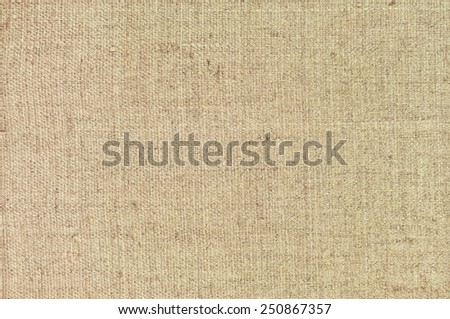 Natural textured horizontal grunge burlap sackcloth hessian sack texture, grungy taupe vintage country sacking canvas, large detailed bright beige pattern macro background closeup