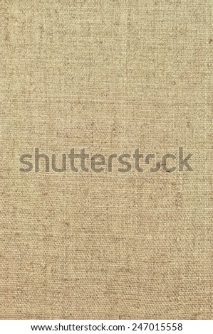 Natural textured vertical grunge burlap sackcloth hessian sack texture, grungy vintage country sacking canvas, large detailed bright beige vintage pattern macro background closeup - stock photo