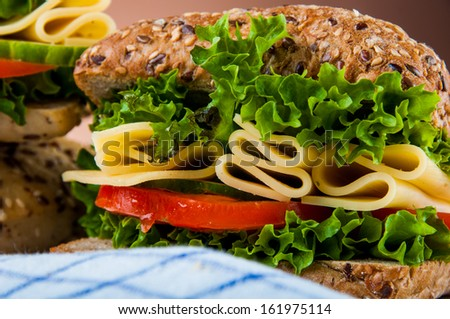 Natural, traditional sandwich - stock photo