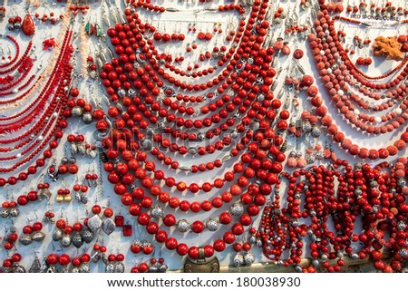 natural tropical coral on the market - stock photo