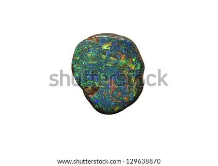 natural unpolished opal gemstone - stock photo