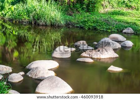 Natural view of Maetakhrai national park, Thailand - stock photo