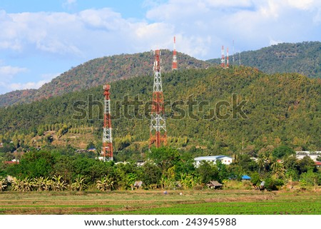 Natural views in the evening from maesarieng area at Thailand. - stock photo