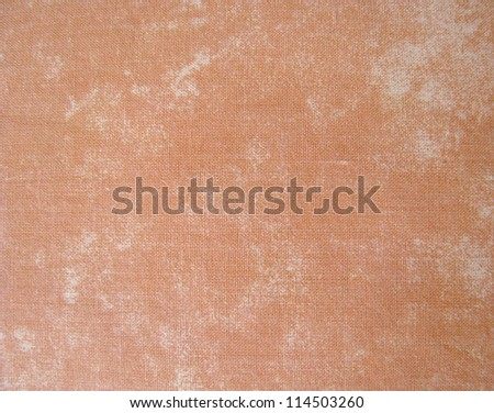 Natural vintage cotton textured fabric texture, old background, terracotta - stock photo