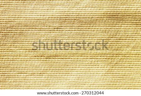 Natural vintage linen burlap textured fabric texture - stock photo