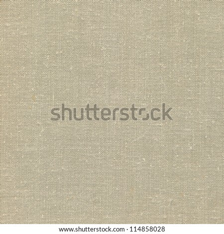 Natural vintage linen burlap textured fabric texture, detailed old grunge rustic background in tan, beige, yellowish, grey canvas copy space - stock photo