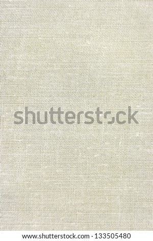 Natural vintage linen burlap textured fabric texture, detailed old grunge rustic burlap background in tan, beige, yellowish, light grey canvas copy space - stock photo