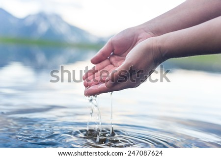 natural water - stock photo