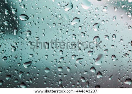 natural water drop on glass,water drops background