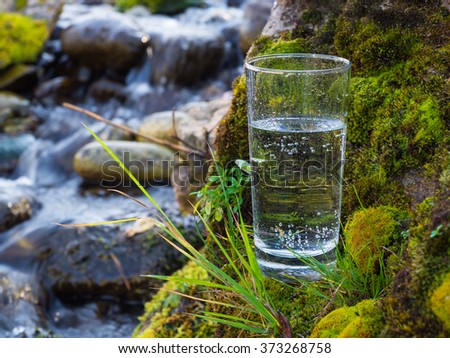 Natural water in a glass