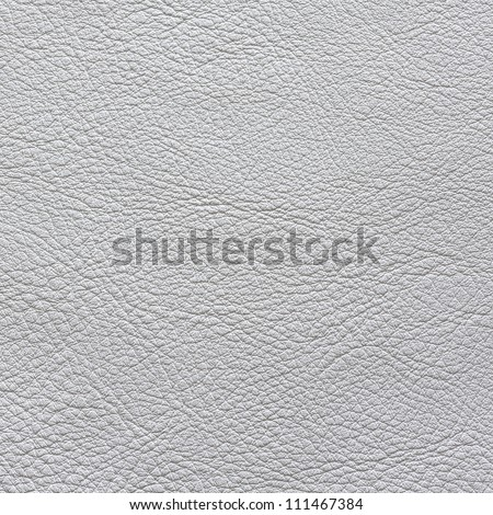 Natural white leather texture - stock photo