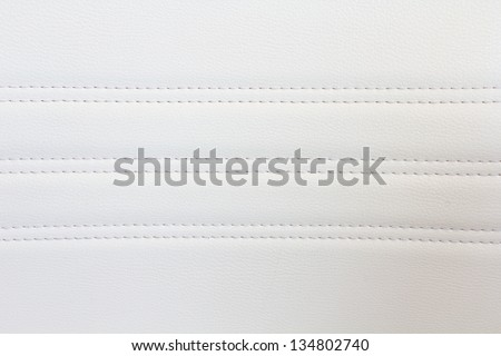 natural white sewing leather - stock photo