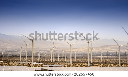 Natural Wind Energy, Palm Springs,CA,USA - stock photo
