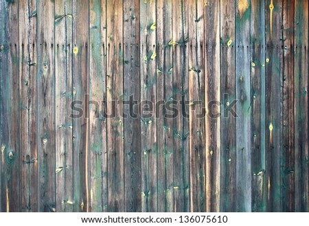 natural wood fence  color - stock photo