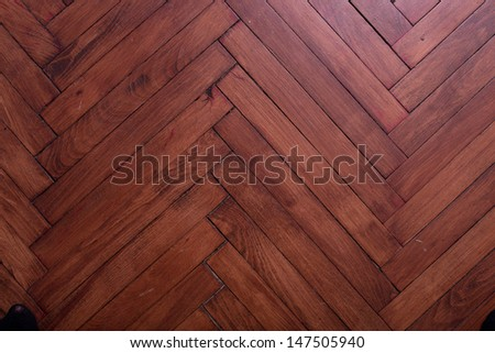 natural wood flooring dark color - stock photo