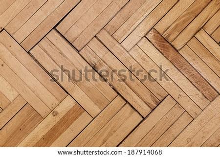 Natural wooden background, grunge floor - stock photo