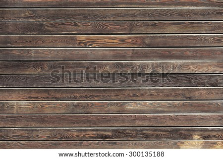 Natural wooden background, table or boards top view - stock photo