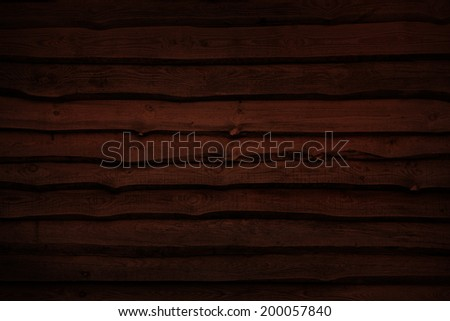 Natural wooden wall - stock photo