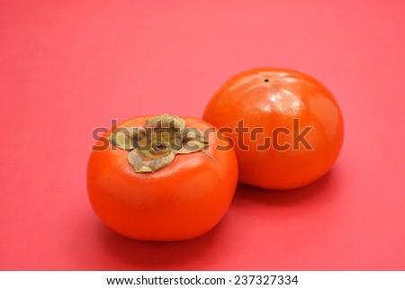 Naturally fresh fruit desert/Persimmon  - stock photo