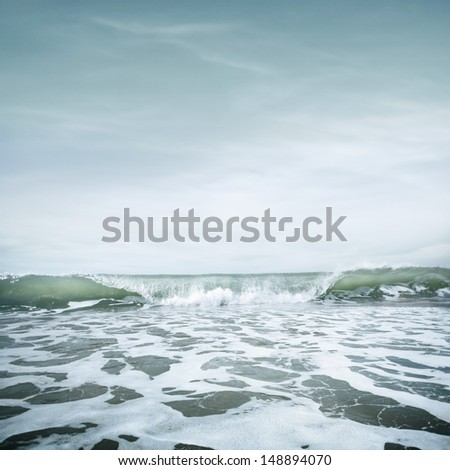 Nature background in vintage style - stock photo