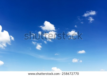 nature background. white clouds over blue sky soft focus - stock photo