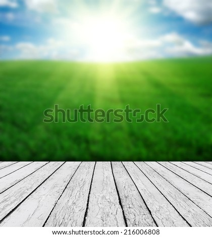 Nature background with wood and beautiful nature background - stock photo
