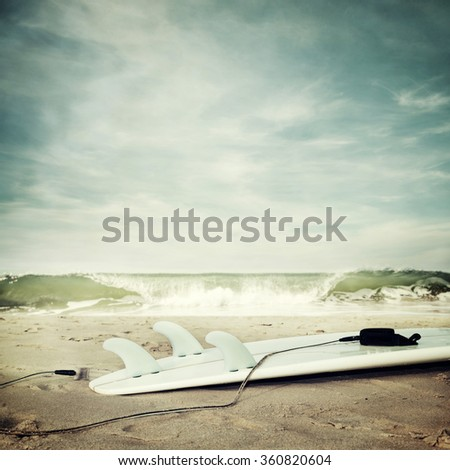 Nature beach background on the ocean - stock photo