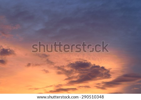 Nature cloudscape with red sky and storm cloud - stock photo