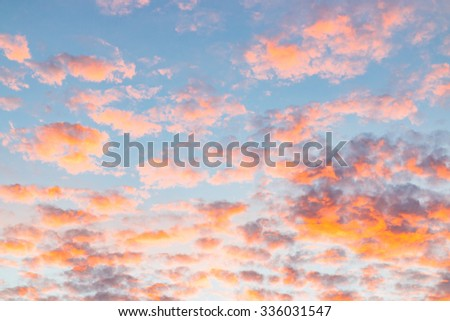 Nature cloudscape with red sky and storm cloud