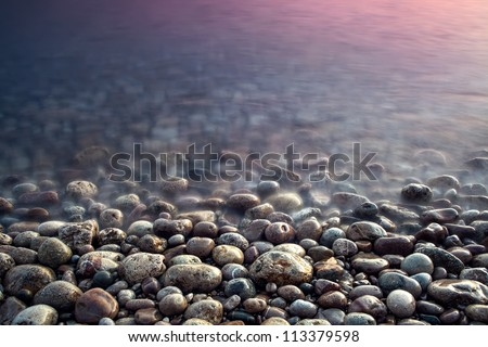 Nature composition of sunset. - stock photo