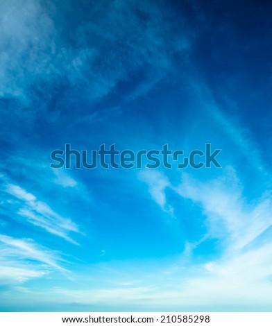 Nature design white cloud under blue sky - stock photo