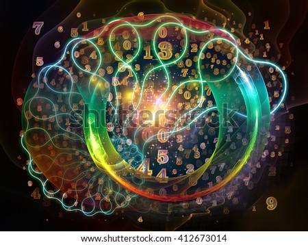 Nature Geometry series. Backdrop composed of mathematical swirls and fractals and suitable for use in the projects on math, geometry, design, education and science - stock photo